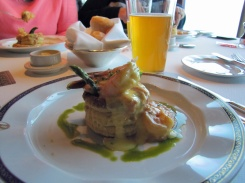Seafood Vol Au Vent, paired with Alaskan White Ale.  My fav.