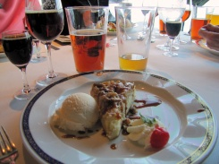 Round 4 - yes Round 4!!!! Upside down Apple Walnut Tart paired with Alaskan Oatmeal Stout